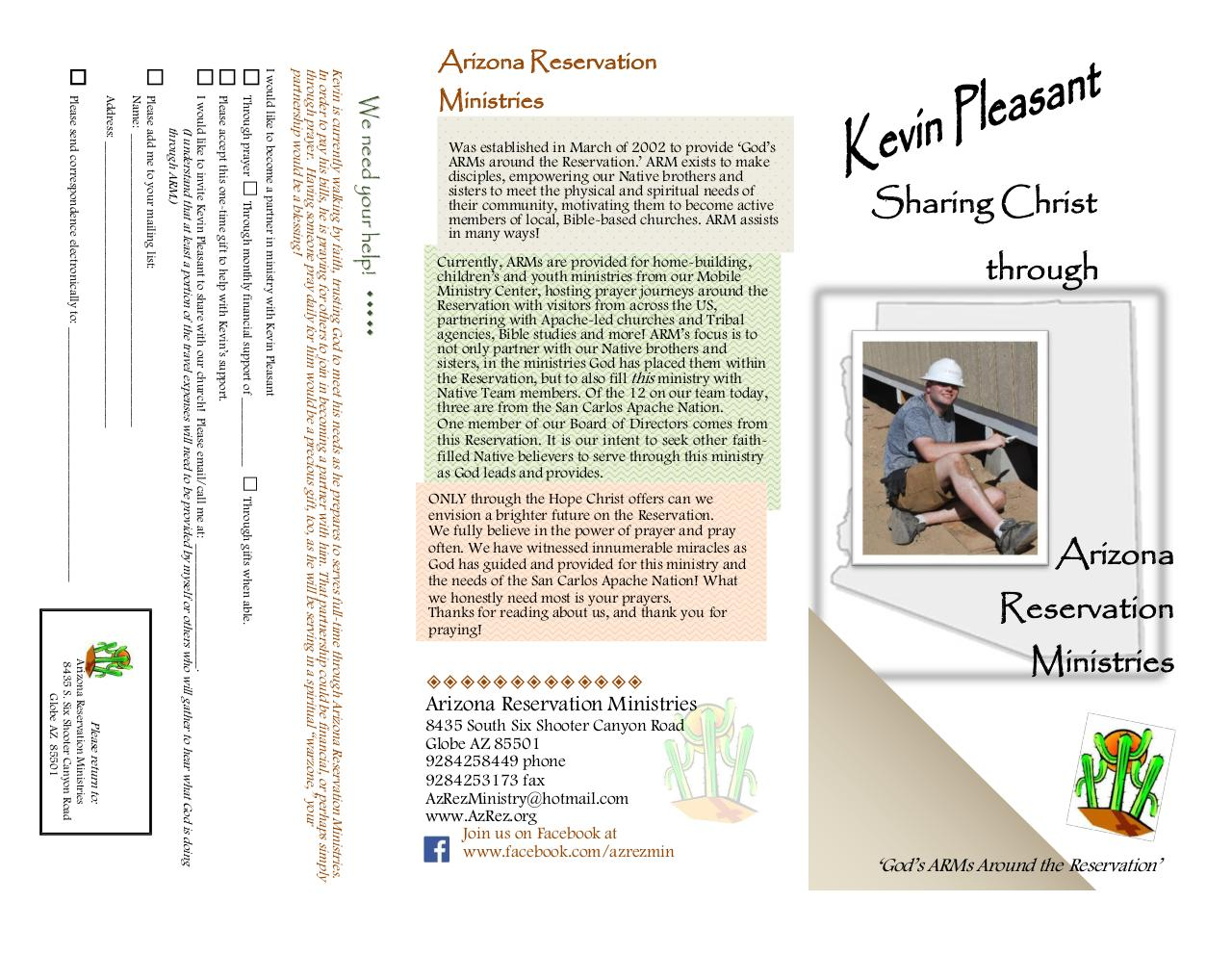 Document preview 2017 Kevin Pleasant brochure.pdf - page 1/2