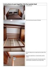 instructions to put together the four poster bed