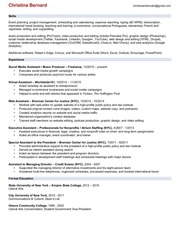 christina bernard 2016 resume