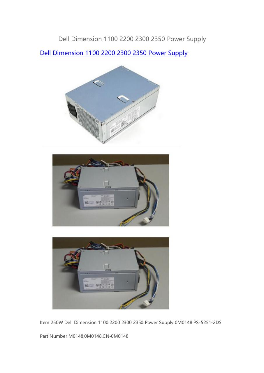 Dell-Dimension-1100-2200-2300-2350-Power Supply.pdf - page 1/2
