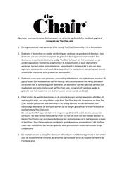 chair giveaway algemene voorwaarden