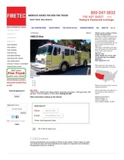 gk35 used fire truck 1992 e one