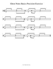 1mdv ghost notes basics precision exercice