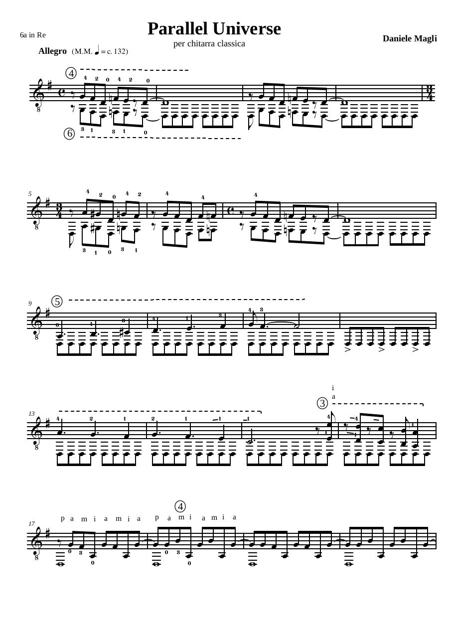 Preview of PDF document parallel-universe-by-daniele-magli-guitar.pdf - Page 1/2