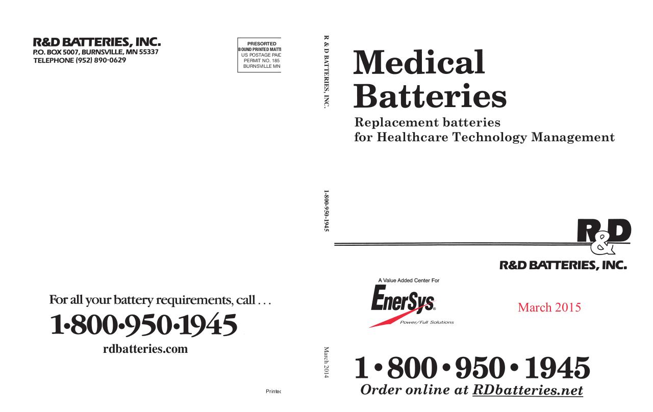 Medical Battery Catalog.pdf - page 1/188