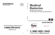 medical battery catalog