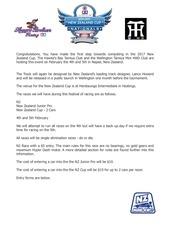 nz cup information