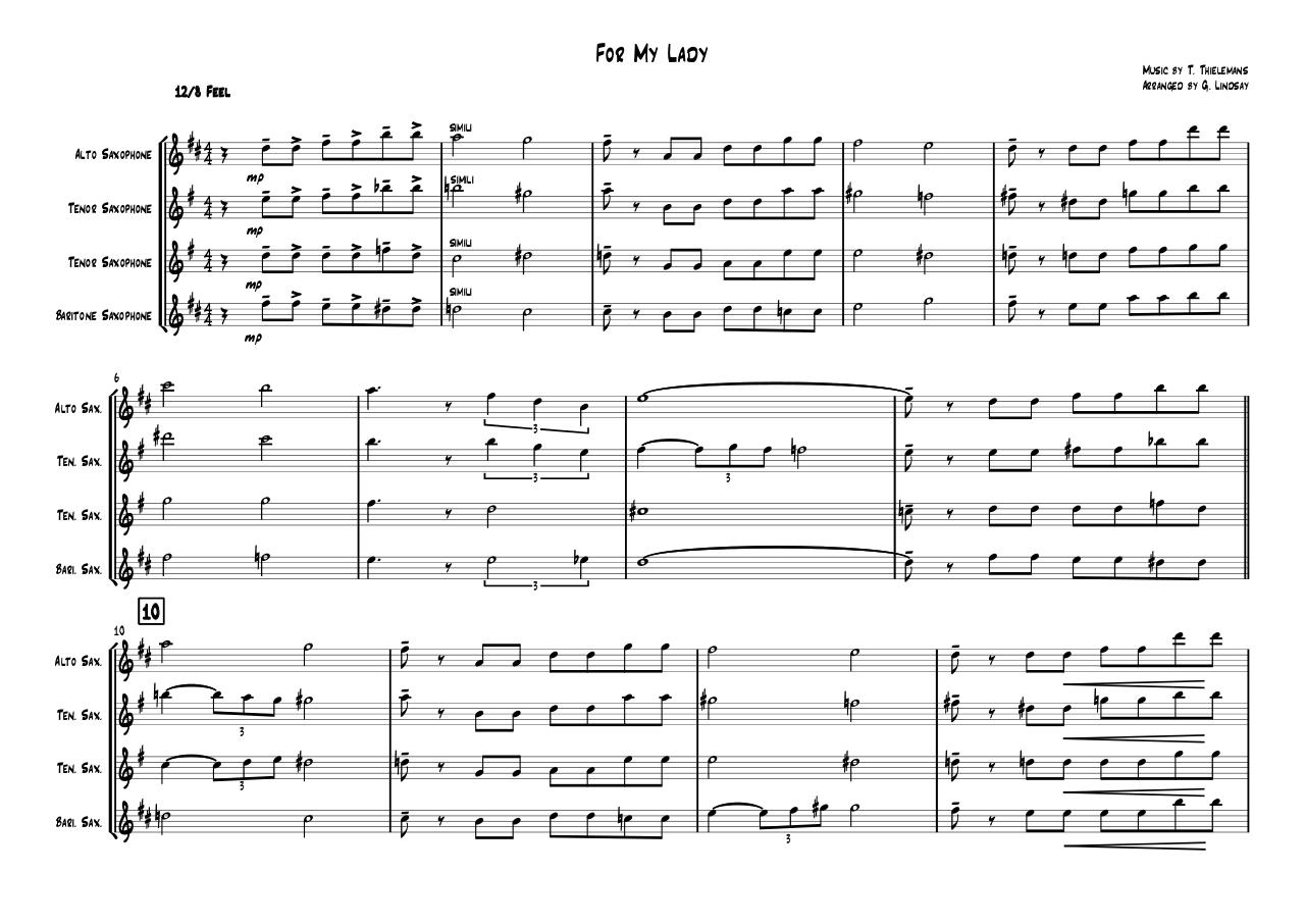 For My Lady - Full Score.pdf - page 1/3