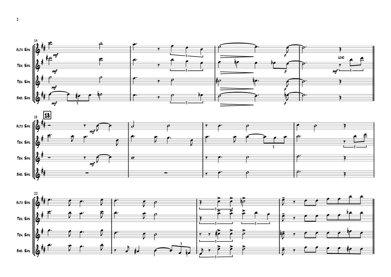 For My Lady - Full Score.pdf - page 2/3
