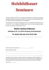 atelier gerhard menzer anmeldung seminar
