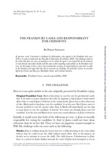 swenson the frankfurt cases and responsibility for omissions