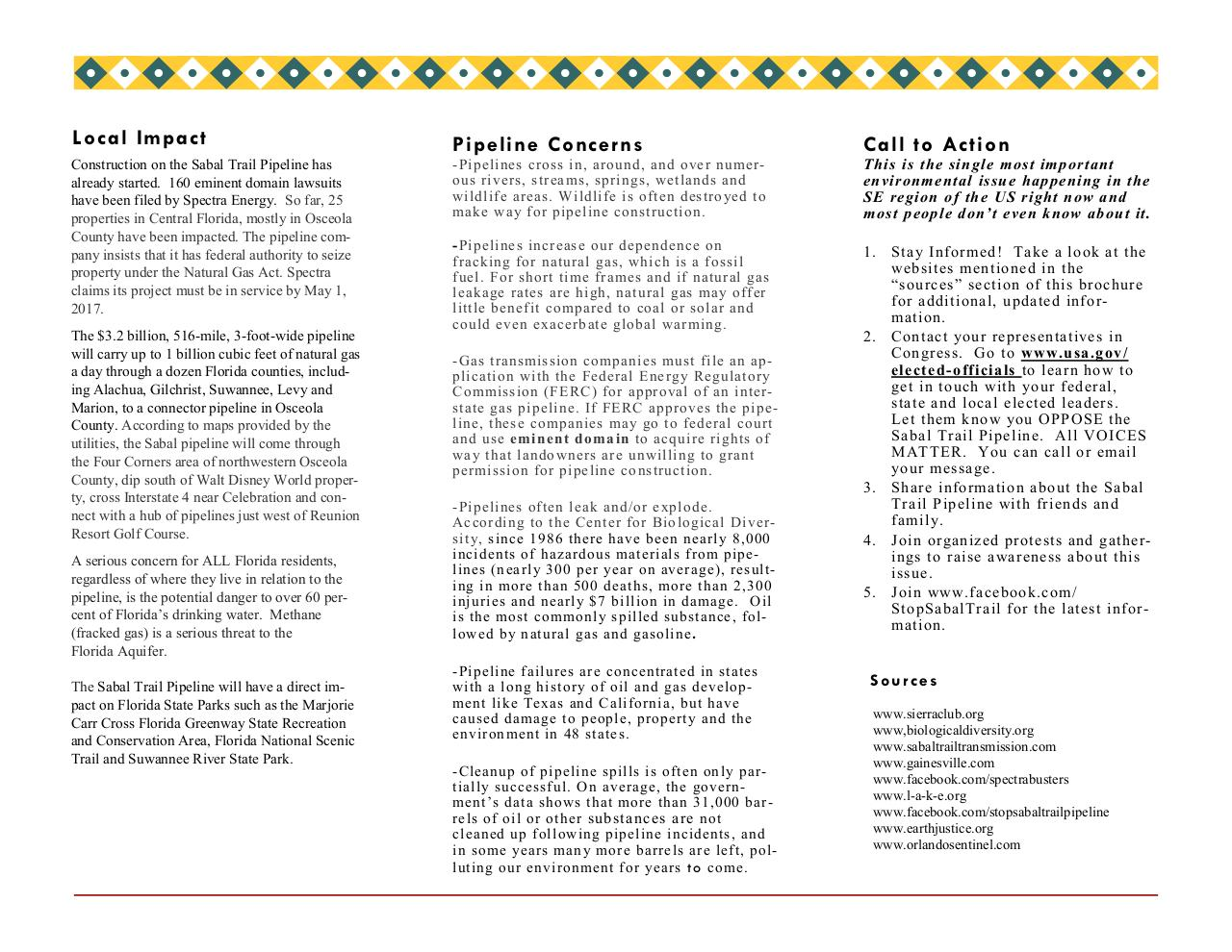Document preview sabaltrailpipeline flyer.pdf - page 2/2