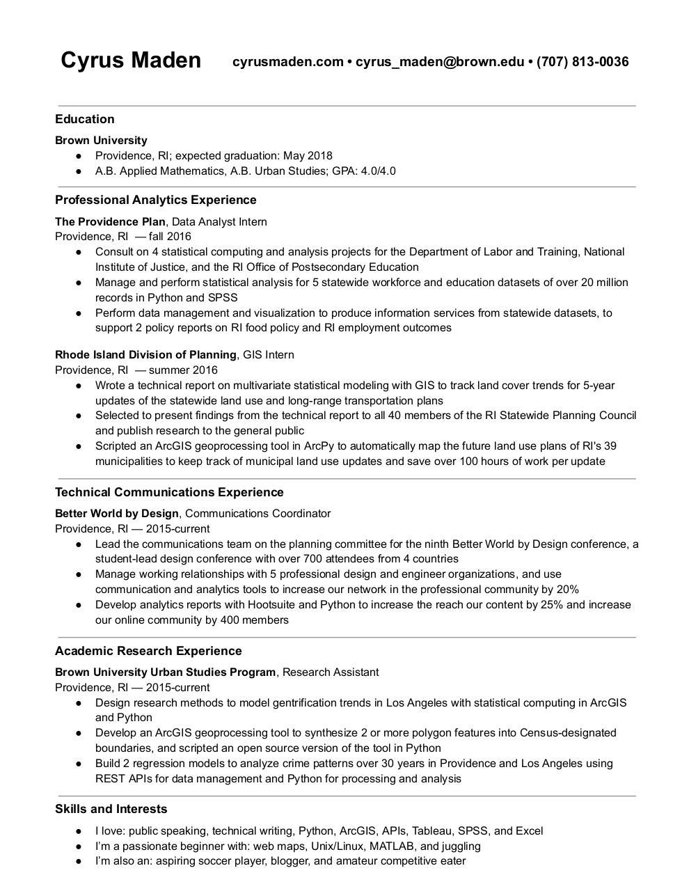 cyrusmaden resume pdf pdf archive