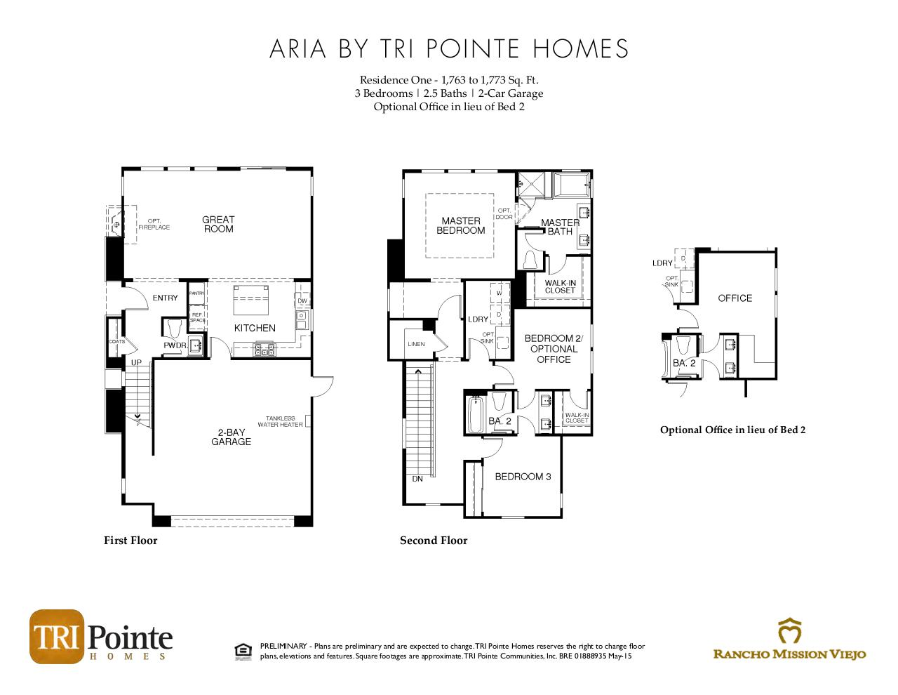 Document preview Aria - Floorplan Brochure.pdf - page 1/3
