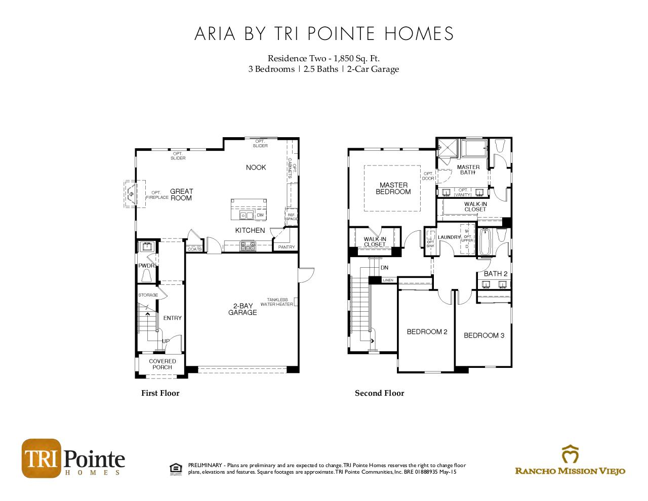 Document preview Aria - Floorplan Brochure.pdf - page 2/3