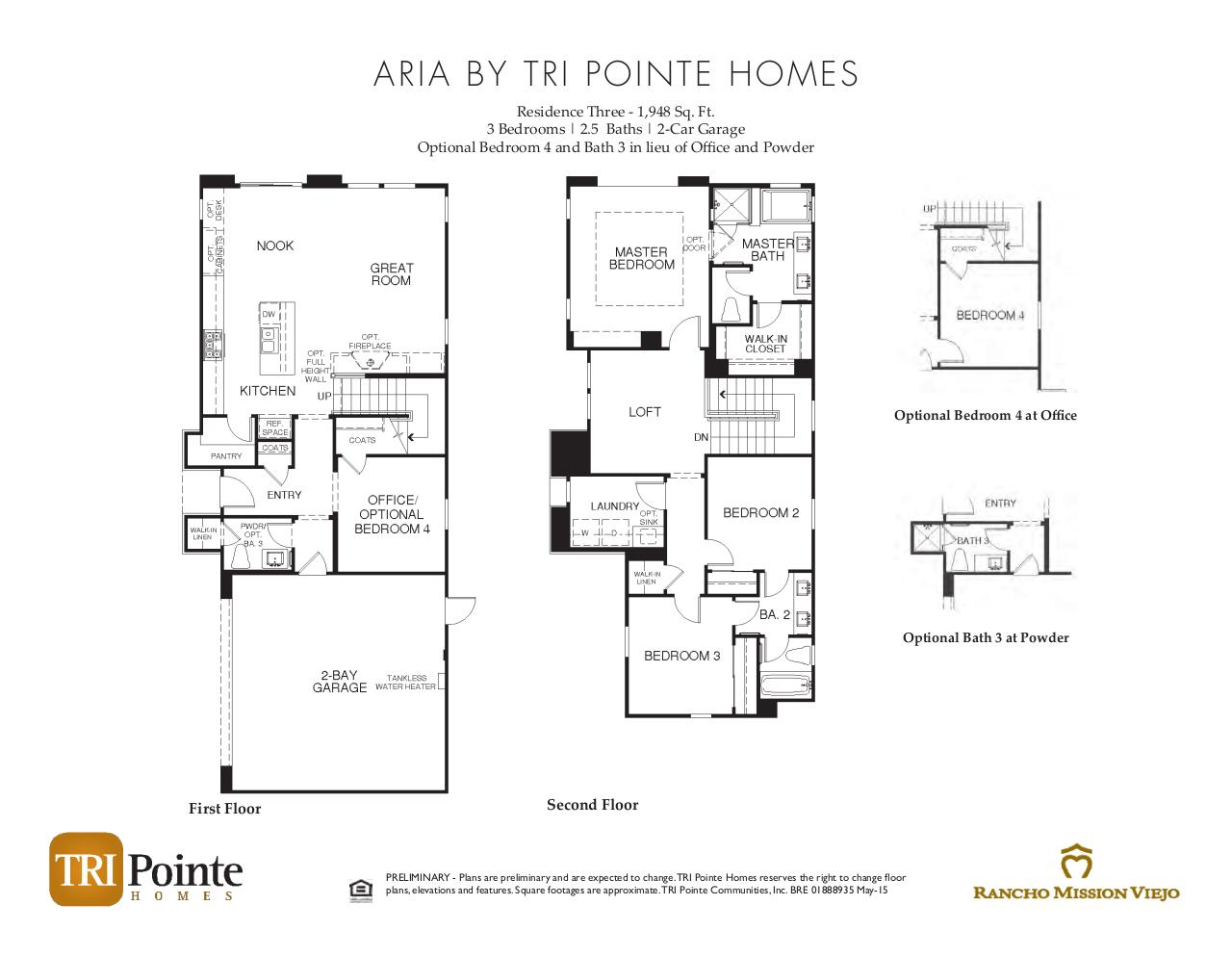 Document preview Aria - Floorplan Brochure.pdf - page 3/3
