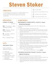 resume stoker december 2016