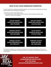 homestead exemption flyer