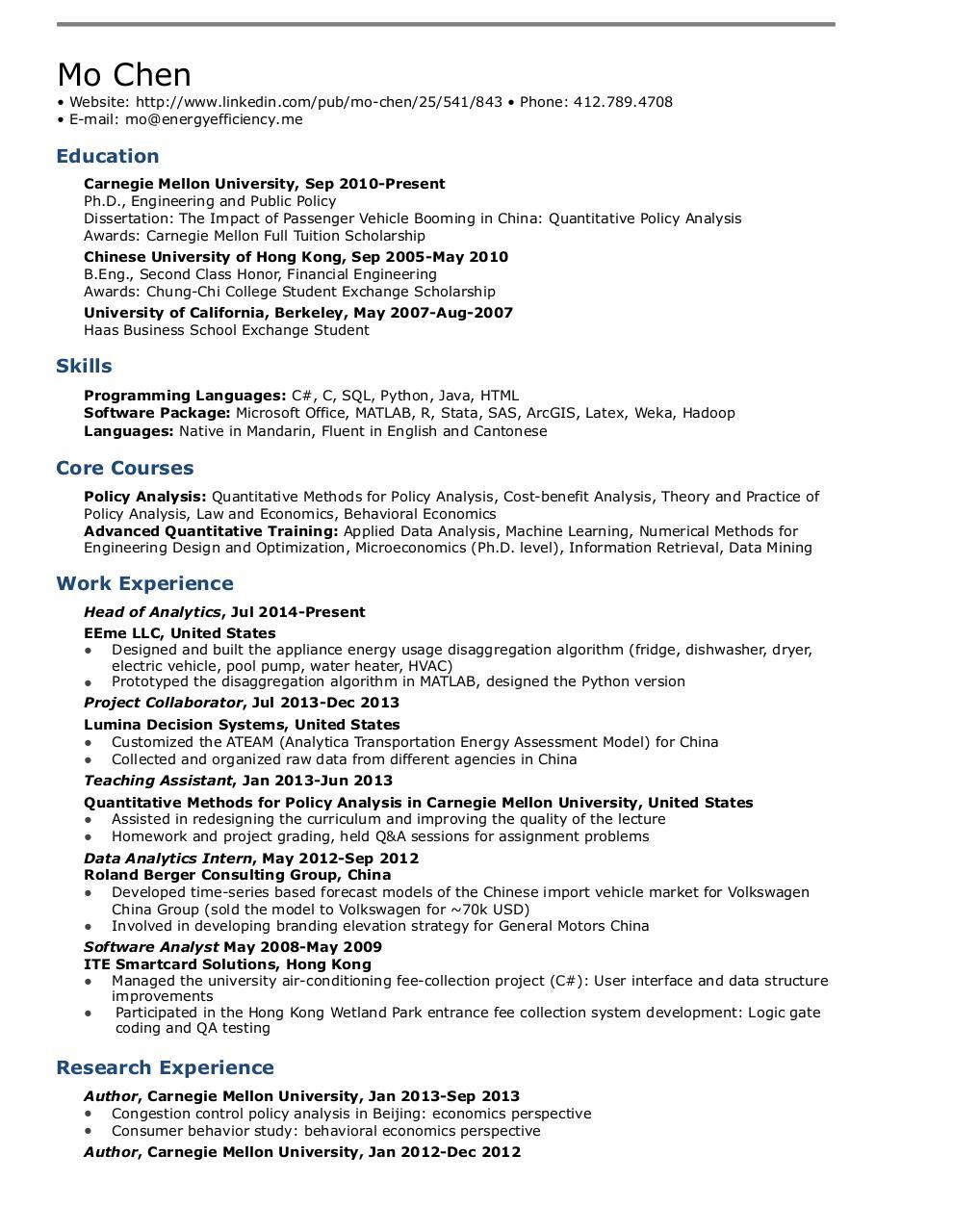 Resume MoChen - PDF Archive