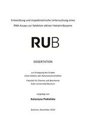 disseration elektroanalytik und sensorik uni bochum