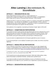 PDF Document jeu concours xl soundblade