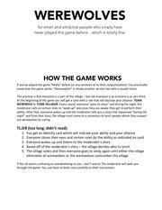 werewolves gameplay