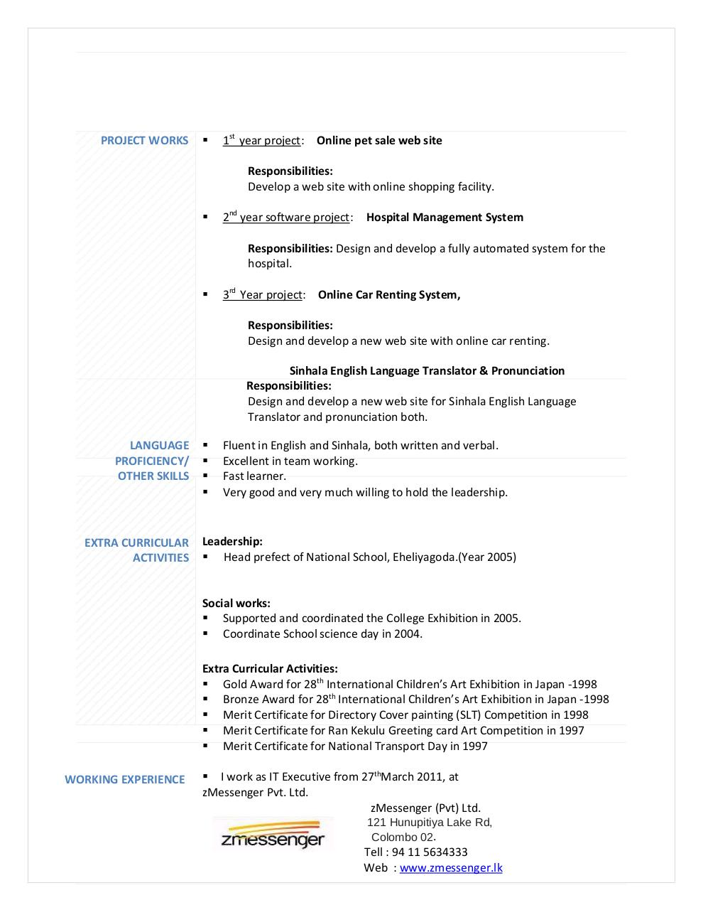 Curriculum Vitae By Dell Pdf Archive
