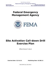 drill site activation call down exercise plan a