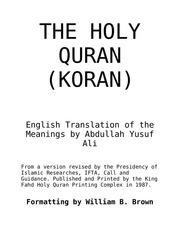 english abdullah yusuf ali