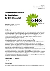 jahresabschlussbericht der buchhaltung der ghg wuppertal