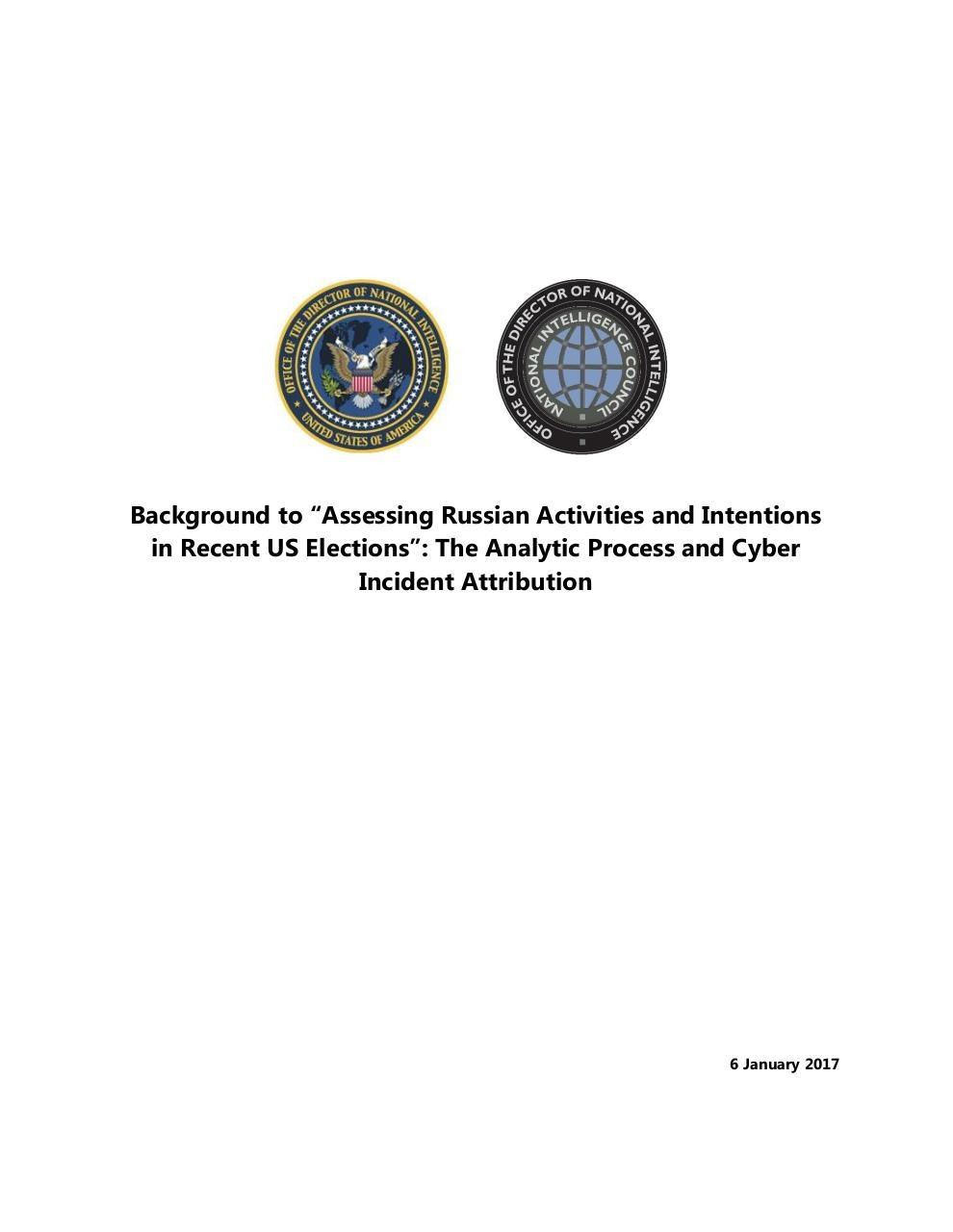 ODNIDeclassifiedIntelCommAssessmentRussianActivitiesElection.pdf - page 1/25