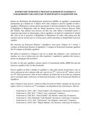 raporti vezhgimi i zgjedhjeve parlamentare 2016