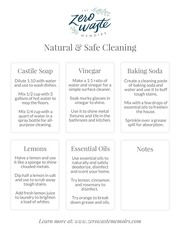natural and safe cleaning cheat sheet the zero waste memoirs