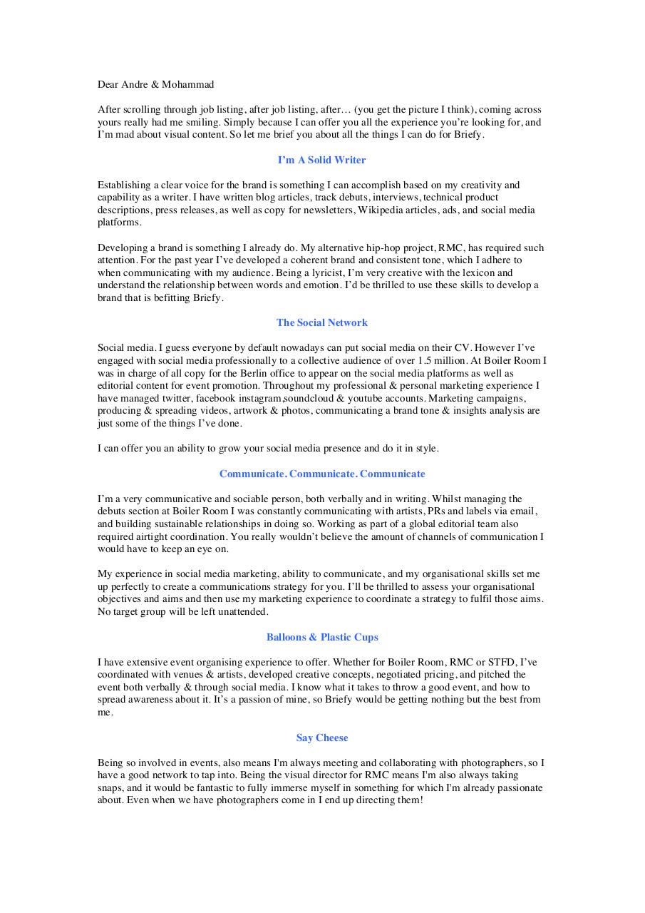 Briefy Cover Letter.docx - Briefy Cover Letter pdf - PDF Archive