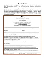 pre licensing registration form