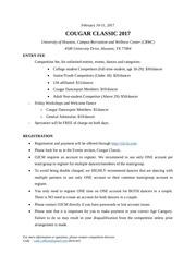 cougar classic 2017 rulesbook