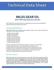 tds miles gear oil