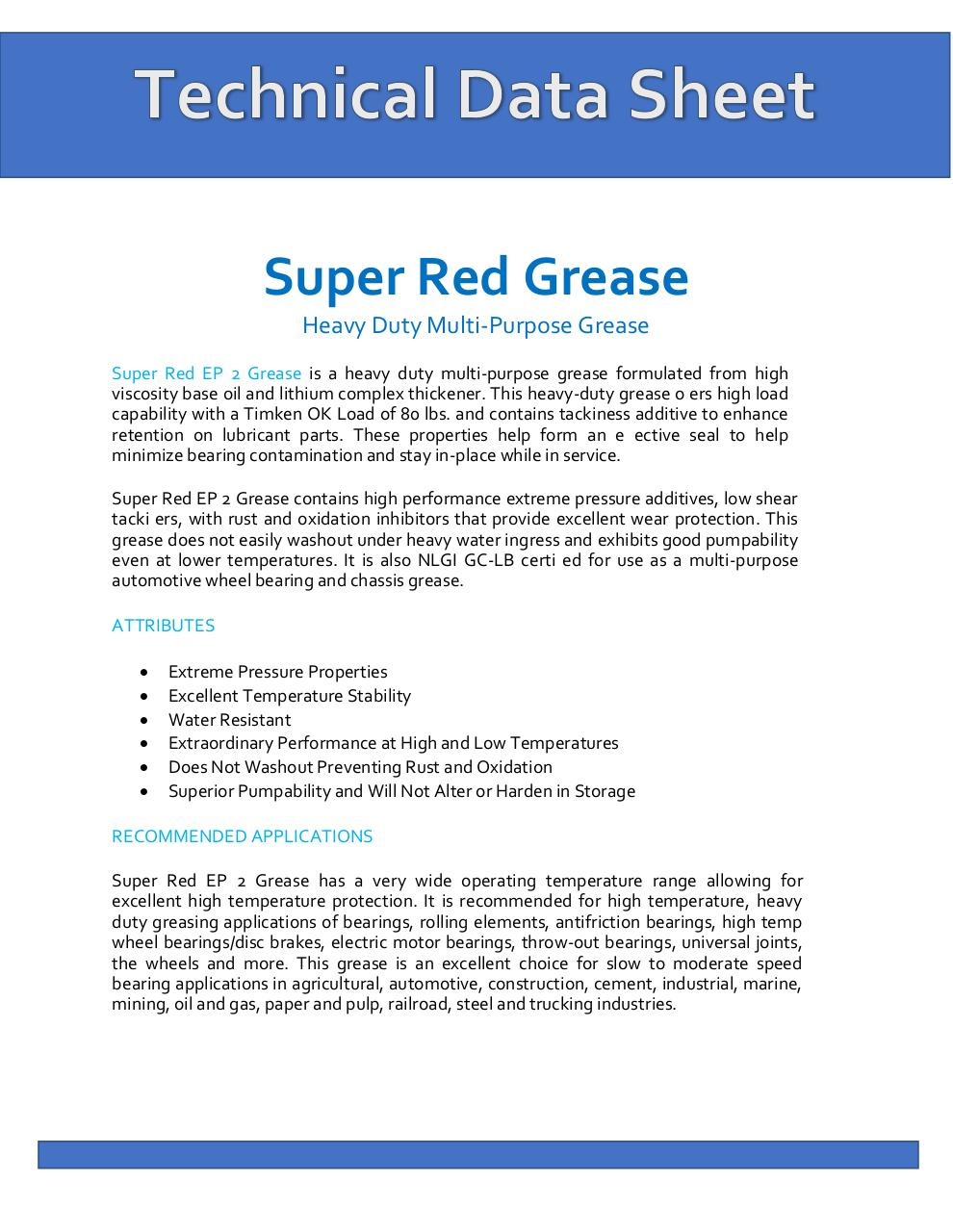 TDS - Super Red Grease (1).pdf - page 1/2