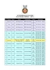 automobilklub kaliski kalendarz 2017