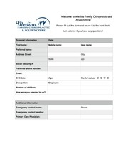 medina family chiropractic acupuncture new patient forms