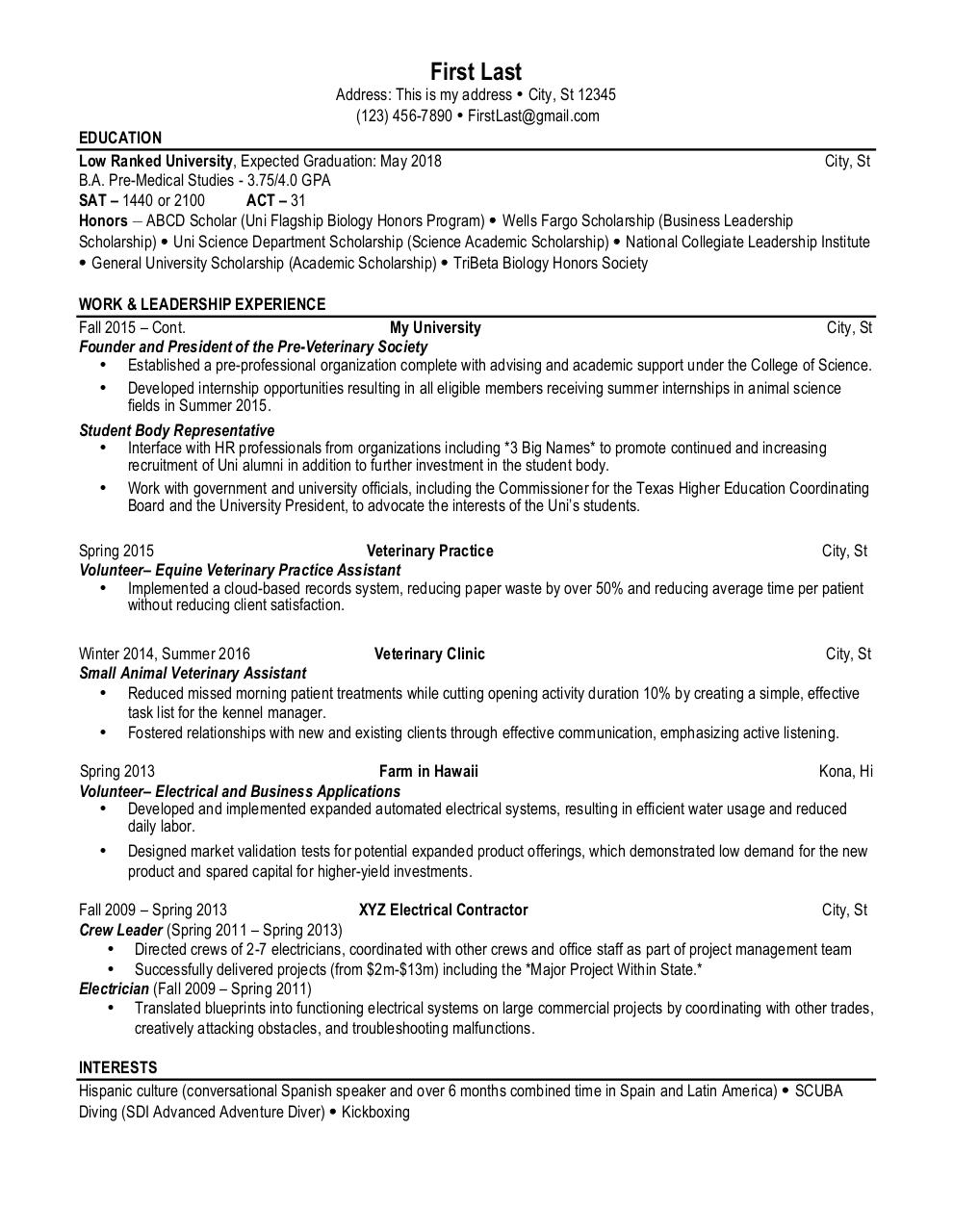 report spam or adult content - Animal Science Student Resume
