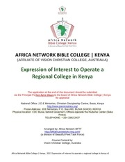 expression of interest for regional college kenya final