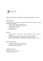 PDF Document keple praktikantas