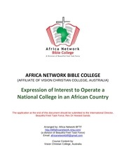 expression of interest for national college africancountry