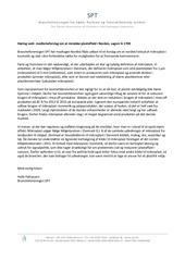h ringssvar sagsnr a 1700 brancheforeningen spt