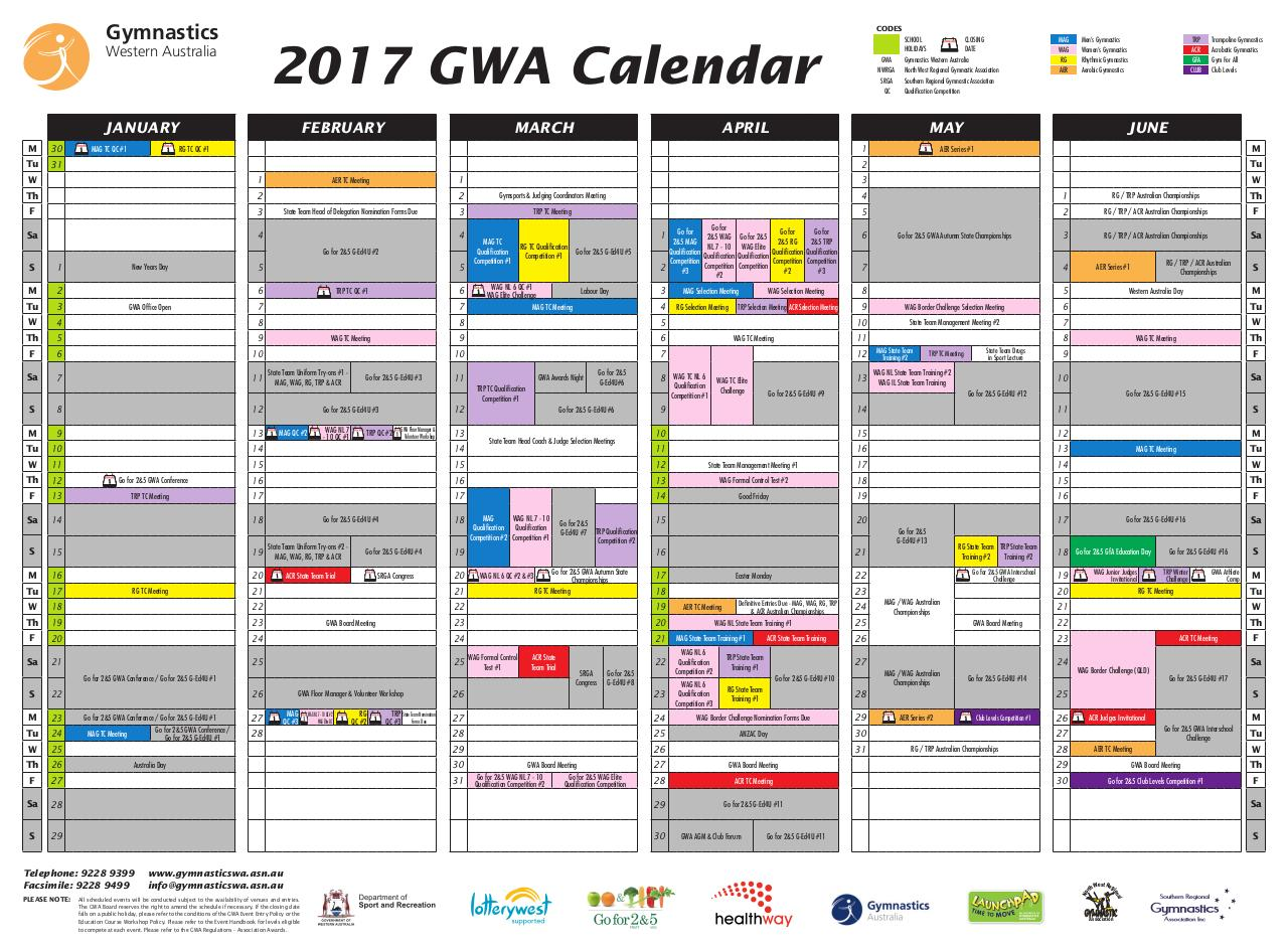 Document preview 5235_GWA_Events_Calendar_2017.pdf - page 1/2