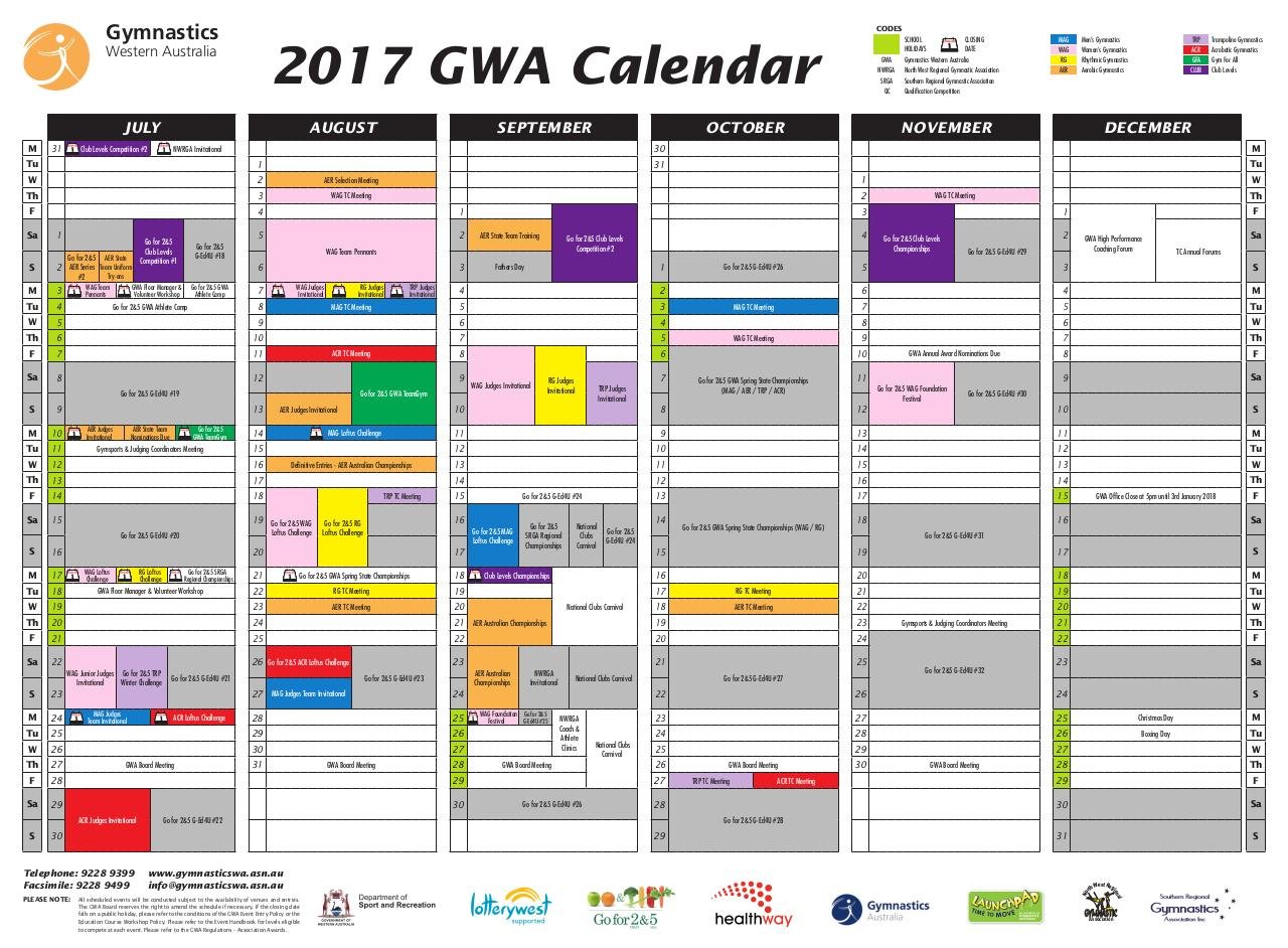 Document preview 5235_GWA_Events_Calendar_2017.pdf - page 2/2