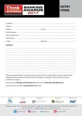PDF Document banking survey 2017 entry form