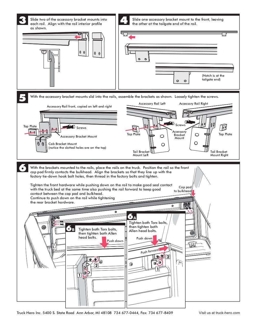 Honda Ridgeline 2017 Adapter Rails Installation Instructions.pdf - page 2/2