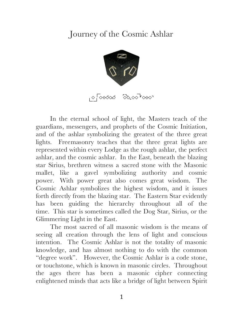 The Journey of the Cosmic Ashlar and the Blackstone Code.pdf - page 1/32